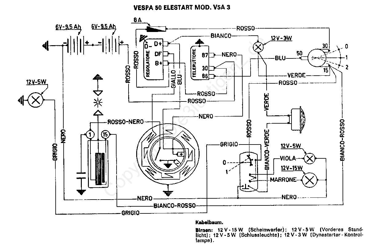 Wir Ber Uns 50 Elestart Model V5a3t Wiring Diagram All About Diagrams Vespa